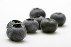 Blueberries. Isolated against a white background Stock Photos
