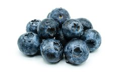 Blueberries bilberries whortleberries blueberry bilberry whortleberry fruit isolated on white Background stock photo