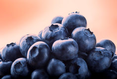 Blueberries. Bluebeerries closeup on warm background Stock Photo