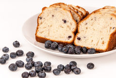 Blueberries and blueberry bread. Stock Photo