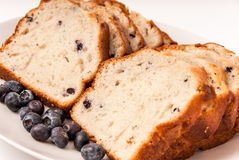 Blueberries and blueberry bread. Royalty Free Stock Photo