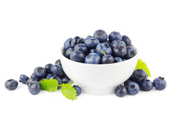 Blueberries in bowl Royalty Free Stock Image