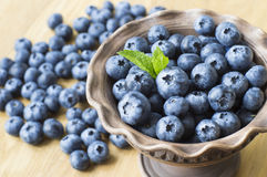 Blueberries in a bowl Royalty Free Stock Photography