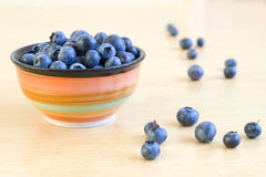 Blueberries in bowl Stock Photo