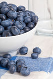 Blueberries in bowl Stock Images