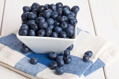 Blueberries in bowl Stock Image