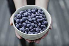 Blueberries bowl Royalty Free Stock Photos