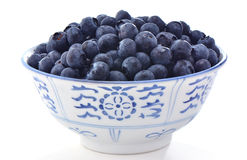 Blueberries in bowl Stock Photography