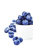 Blueberries in a bowl isolated on white background close up. Bil Stock Images