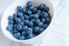 Blueberries in the bowl Stock Photography
