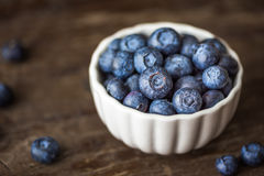Blueberries in a Bowl Stock Image