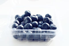 Blueberries in a box Royalty Free Stock Images