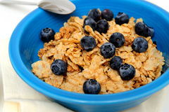 Blueberries And Cereal Closeup Stock Photography