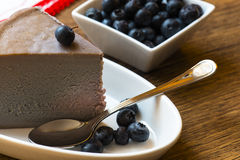 Blueberries cheesecake Stock Photos