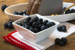 Blueberries cheesecake Stock Photography