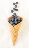 Blueberries in the cone Royalty Free Stock Photo