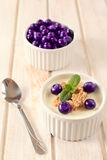 Blueberries and corn flakes Stock Image