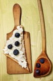 Blueberries and cream cheese Royalty Free Stock Images