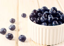 Blueberries in cup Stock Image