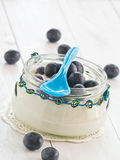 Blueberries with curd Royalty Free Stock Photo