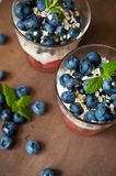 Blueberries dessert Stock Image