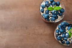 Blueberries dessert Royalty Free Stock Photos