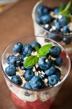 Blueberries dessert Stock Photos