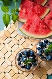 Blueberries dessert Stock Photo