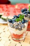 Blueberries dessert Royalty Free Stock Images