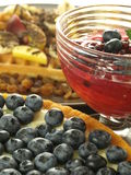 Blueberries desserts. Sweet ideas on perfect desserts from blueberries stock image