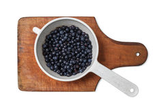 Blueberries in a dipper Stock Photos