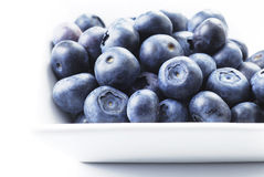 Blueberries in the dish Royalty Free Stock Images