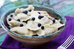 Blueberries Dumplings Royalty Free Stock Photography