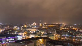 Blueberries. Estonia, Tallinn at night from 24th floor Royalty Free Stock Photo