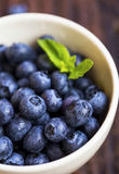 Blueberries fruits closeup in a bowl Royalty Free Stock Photography