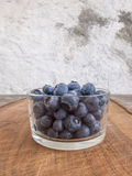 Blueberries in glass cup Stock Image
