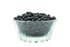 Blueberries in a glass Stock Image