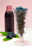 Blueberries  in a glass Royalty Free Stock Images