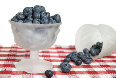 Blueberries in goblet Royalty Free Stock Photo