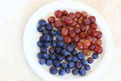 Blueberries and Grapes Royalty Free Stock Photo