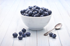 Bowl Blueberries Healthy Fruit Background