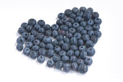 Blueberries heart Royalty Free Stock Photography