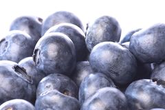 Blueberries Isolated Royalty Free Stock Images