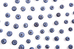 Blueberries isolated macro shot Stock Photos