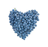 Blueberries isolated royalty free stock photos