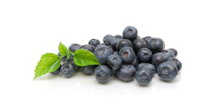 Blueberries isolated on white background close-up Royalty Free Stock Photography