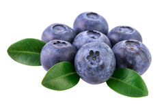 Blueberries isolated on white Image included clipping path Stock Photo