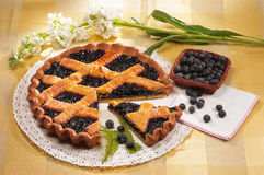 Blueberries jam tart Royalty Free Stock Photography