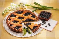 Blueberries jam tart Royalty Free Stock Photography