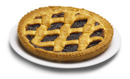 Blueberries jam tart Royalty Free Stock Photo